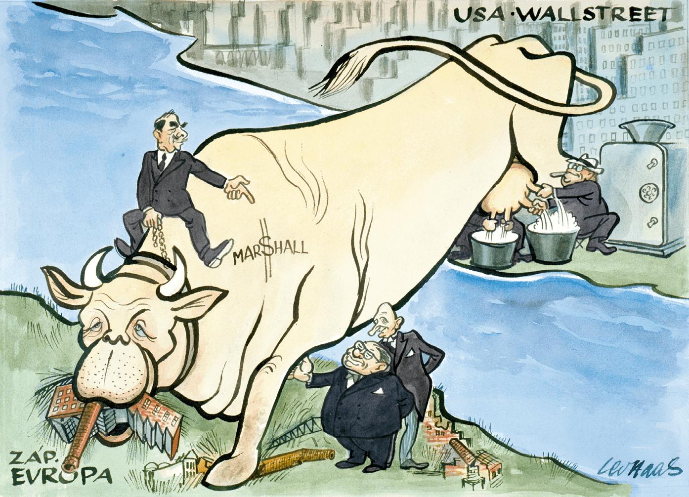 Le secrétaire d'État installé sur la vache Marshall