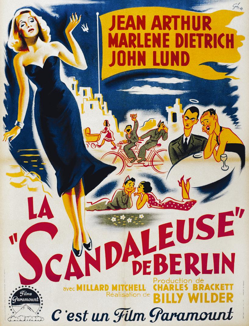 Affiche du film La Scandaleuse de Berlin, 1948.