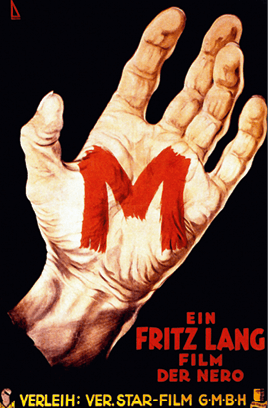 Affiche du film M le maudit de Fritz Lang