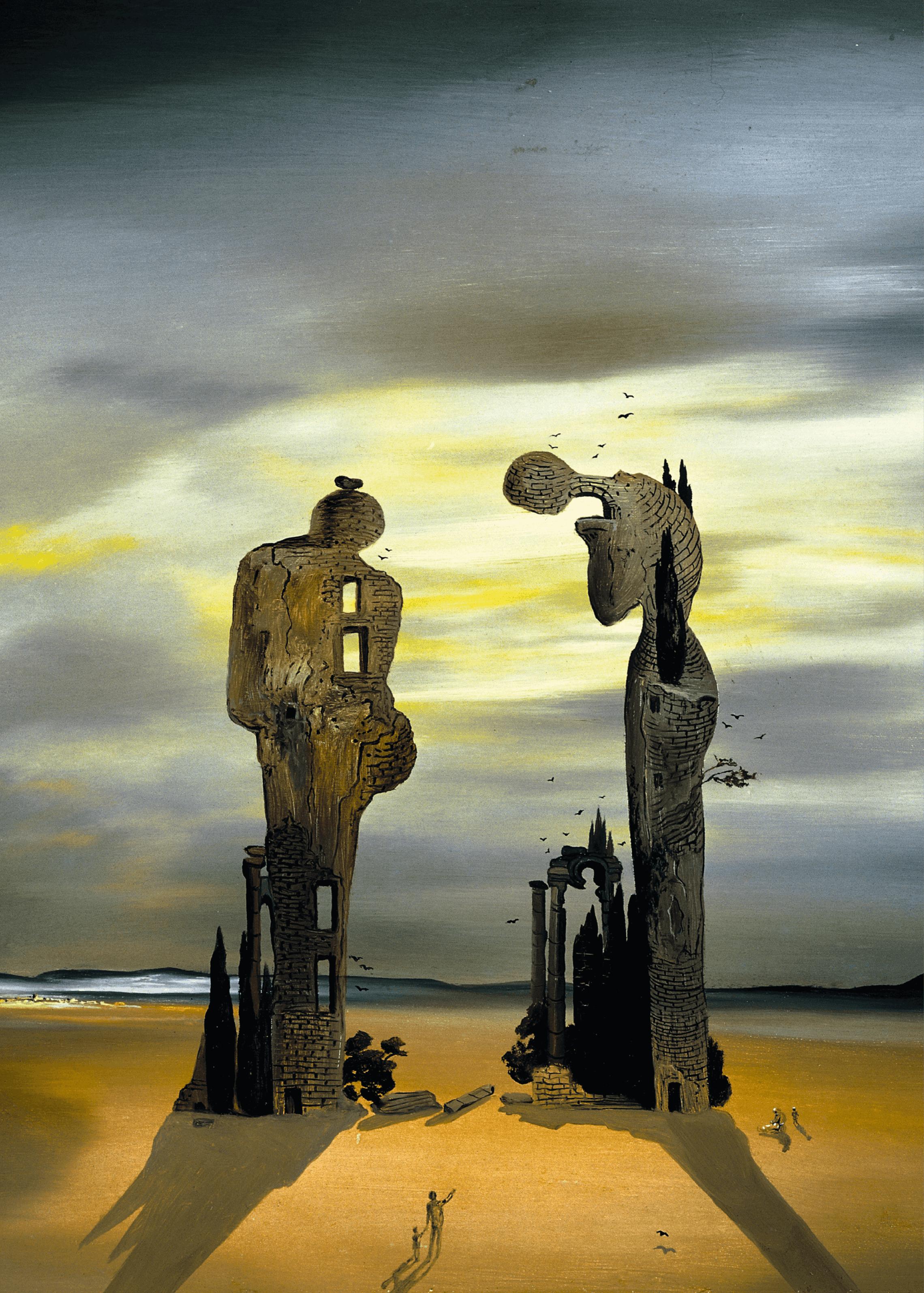 Salvador Dali, The Angelus, 1933-1935, huile sur panneau, 32 × 39 cm (Salvador Dali museum, St. Petersburg).
