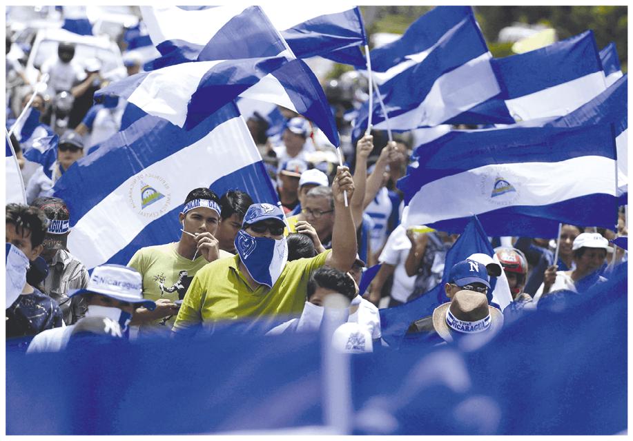 Cientos de Nicaragüenses manifiestan contra el gobierno, Managua, Nicaragua, 2018