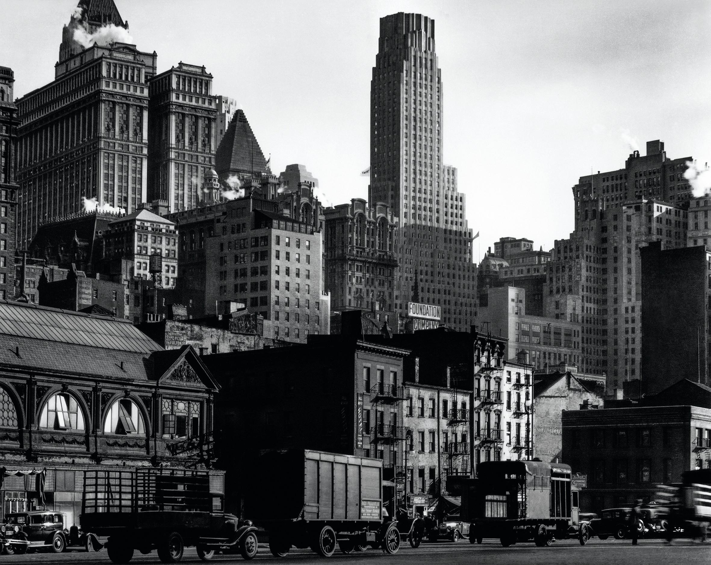 View From West Street, Manhattan, Berenice Abbot, 1938