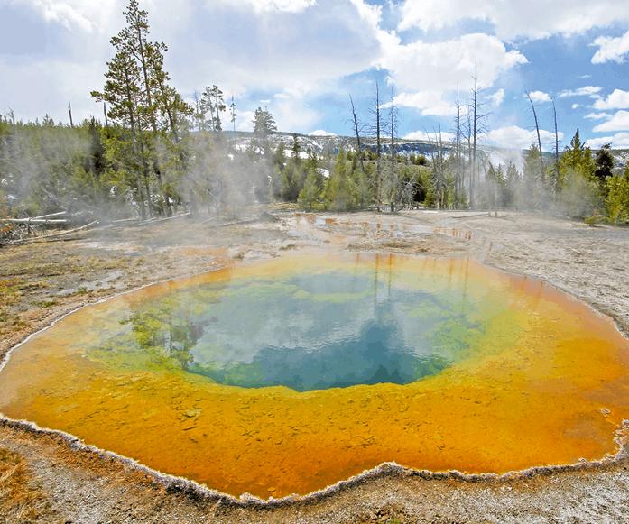 Sources chaudes d'origine volcanique