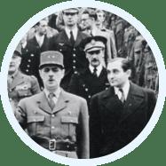 Charles de Gaulle et Pierre Mendès France