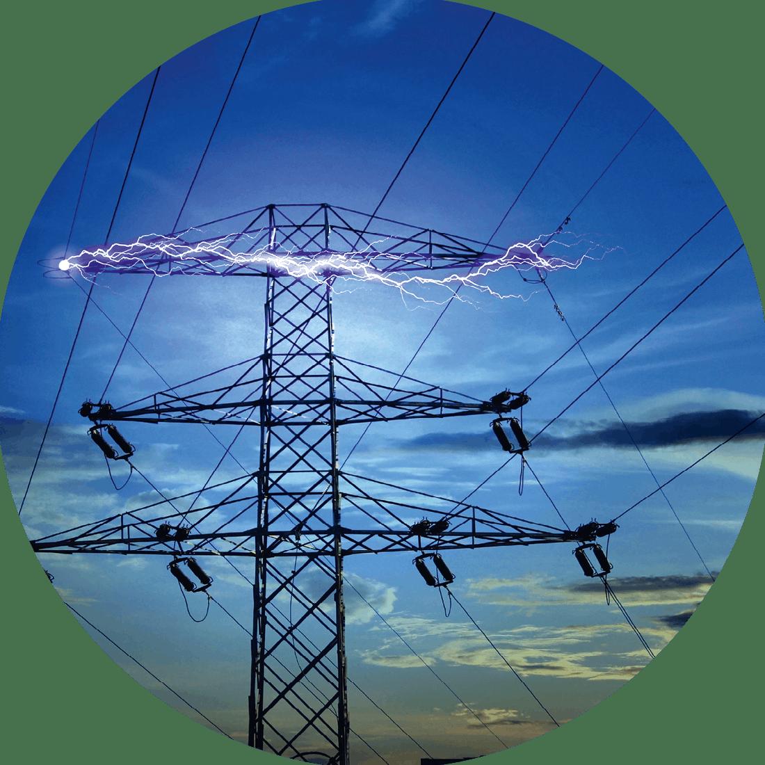 Vue d'artiste du concept d'électricité.