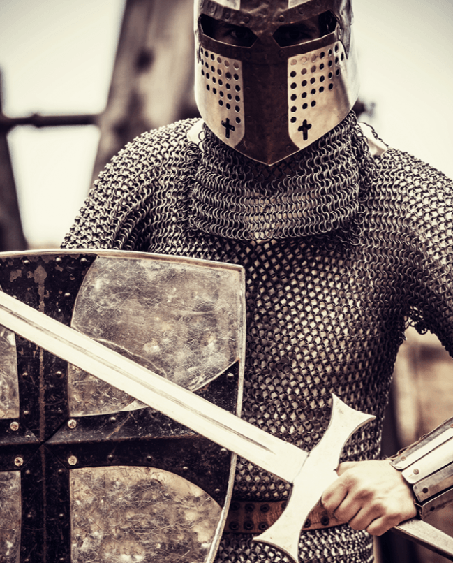 Knight in armour