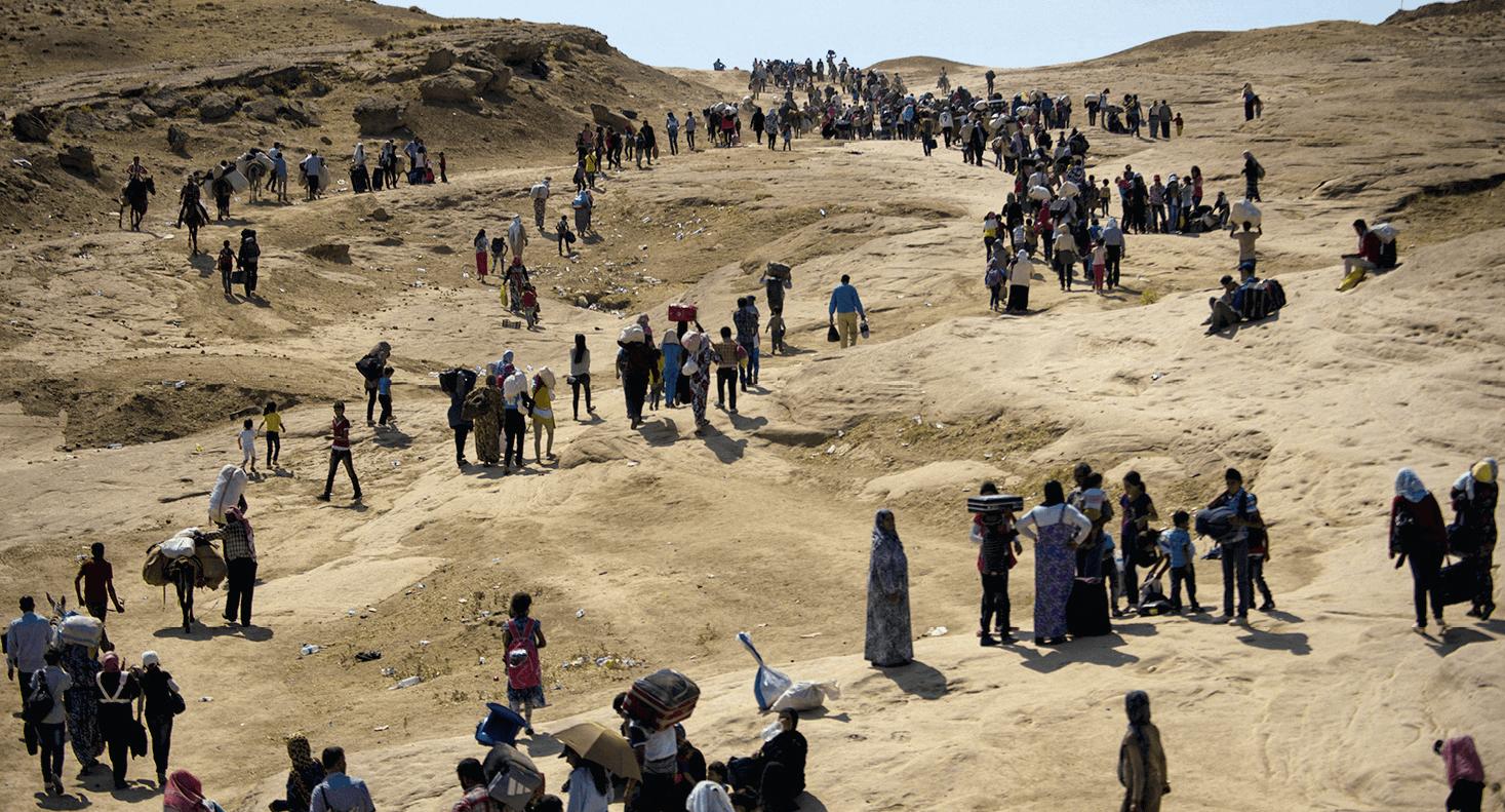 L'exode des réfugiés syriens