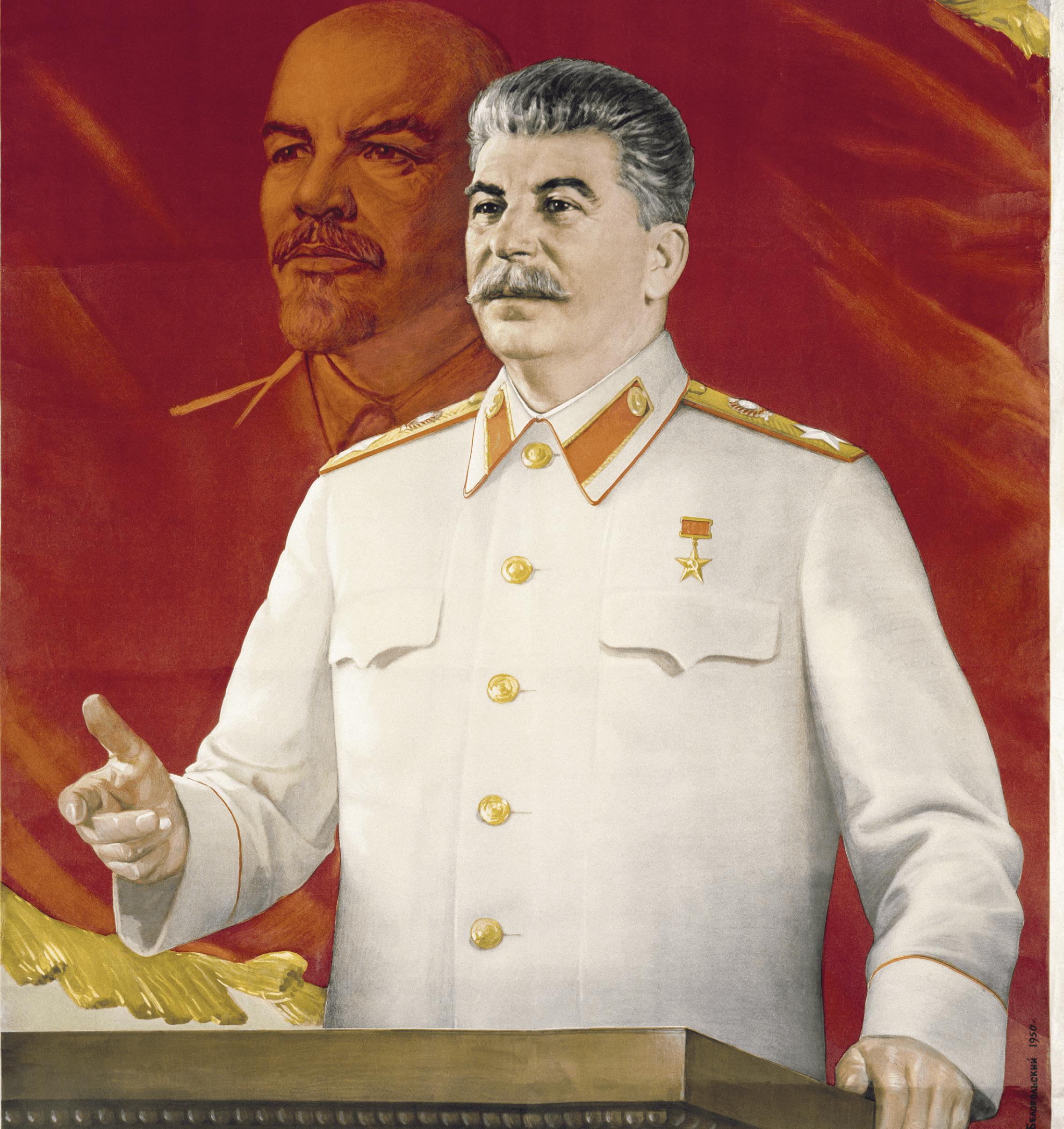 Boris Belpodsky, « Nous avançons vers le communisme », 1950, affiche soviétique