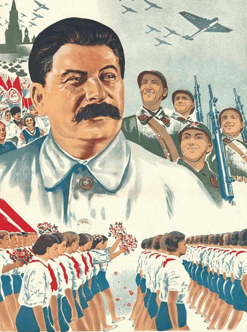 Affiche de propagande à la gloire de Staline, vers 1938