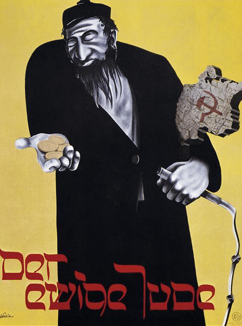 Affiche anonyme de l'exposition « Le Juif éternel », 1937