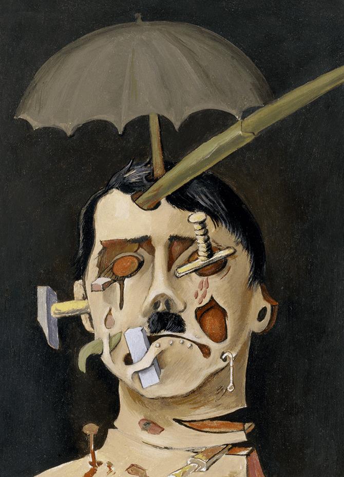 Victor Brauner, Hitler, 1934, huile sur carton, 22 × 16 cm, Centre Georges Pompidou, Paris
