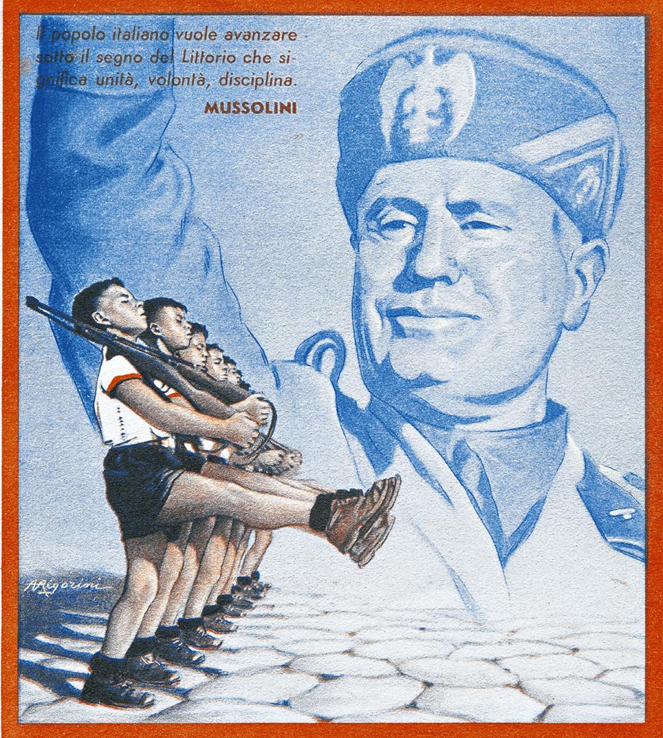 Couverture illustrée d'un cahier d'exercices, Quaderno, 1941