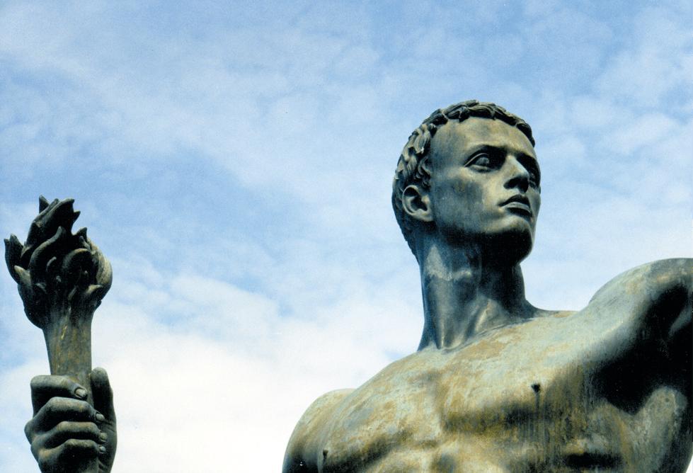 Arno Breker, le porteur de torche, 1939, statue exposée à l'époque devant la Chancellerie de Berlin