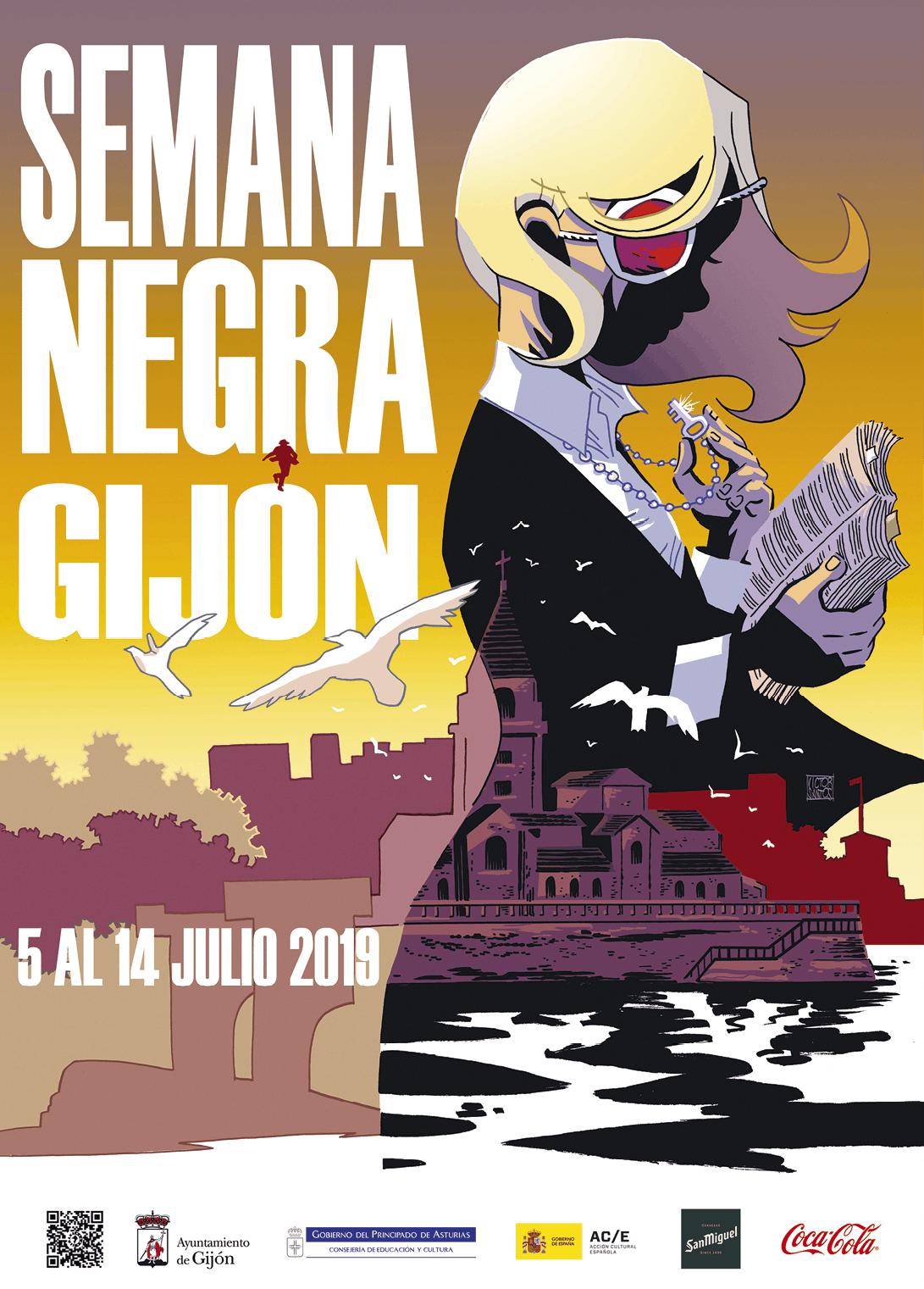 Cartel de la Semana Negra de Gijón, 2019