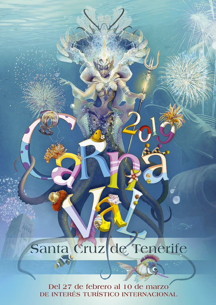 Cartel oficial del Carnaval de Santa Cruz de Tenerife, 2019