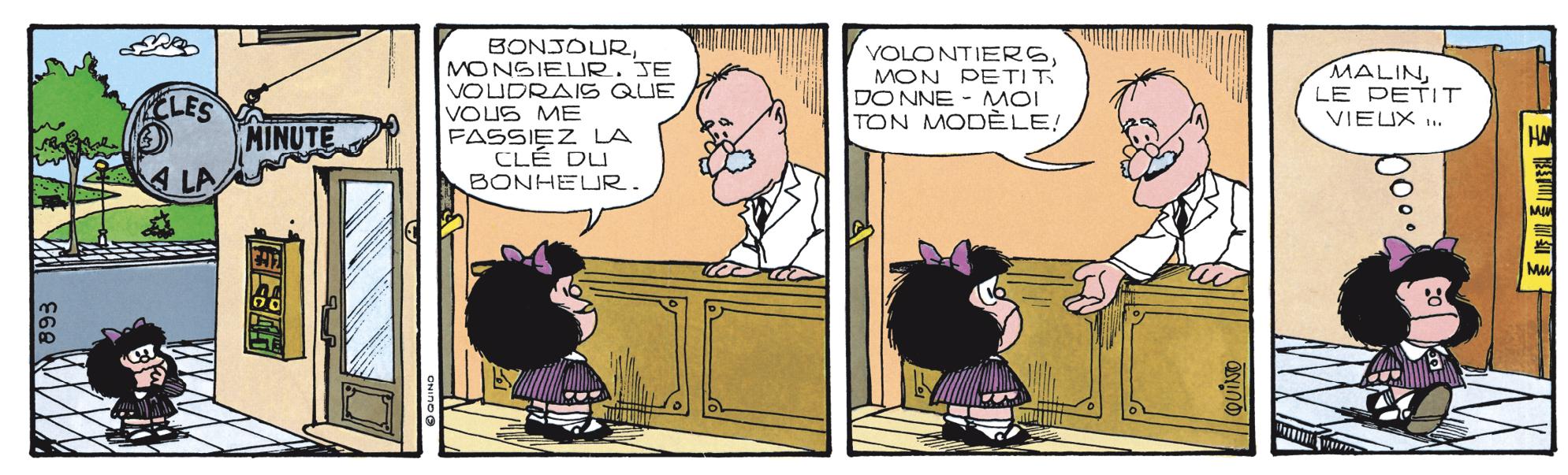 Illustration tirée de la bande dessinée Le petit frère de Mafalda, de Quino, Éditions Glénat, 1983.