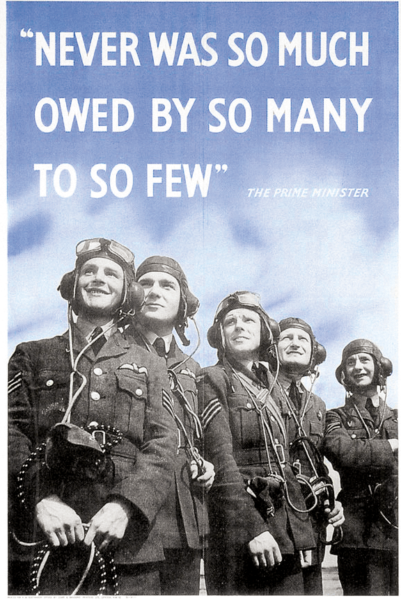 A WWII poster quoting Churchill's words