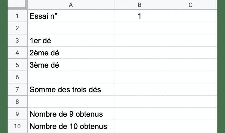 modèle de feuille de calcul - méthode de résolution 2