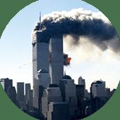 Le 11 septembre 2001, Tours Jumelles en feu