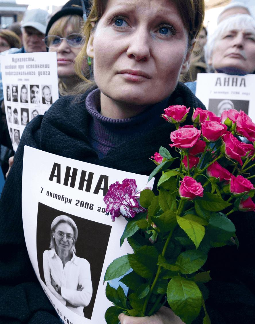 Anna Shevelyova, 2009, photographie. Liberté de la presse menacée en Russie