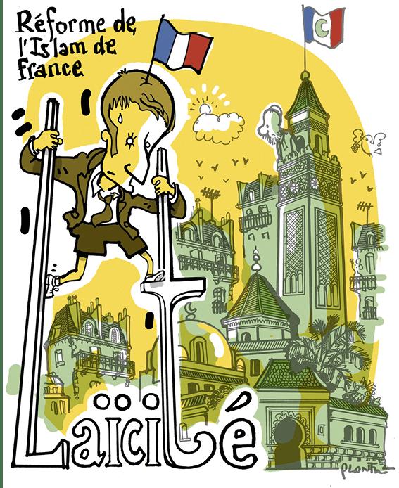 dessin de presse sur la laïcité