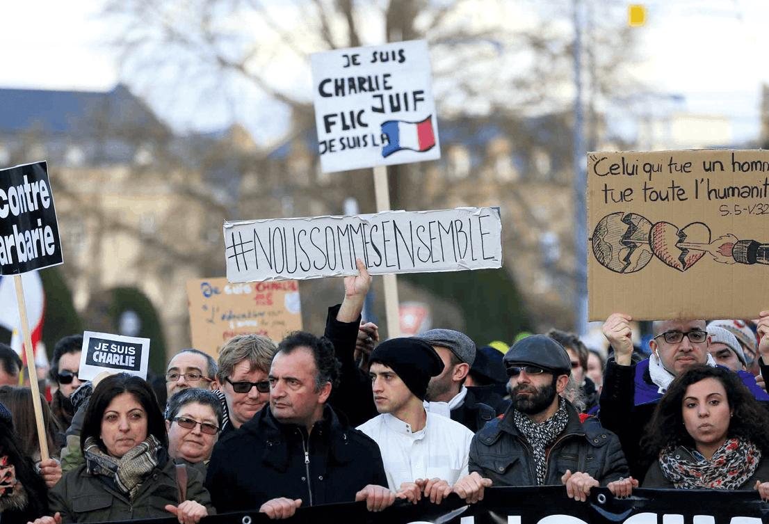 Photographie de la marche républicaine du 11 janvier 2015