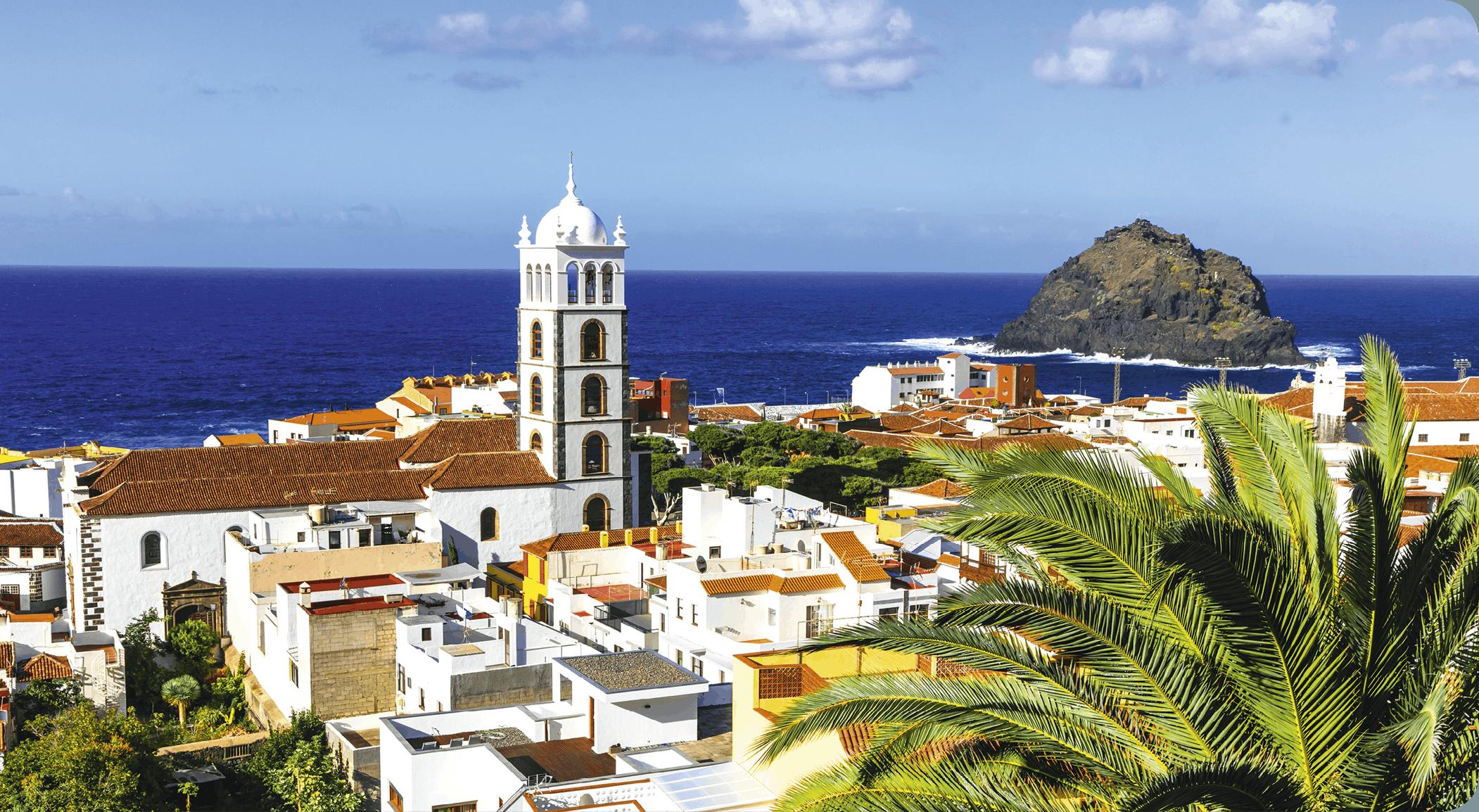 Garachico, aldea tradicional de la isla de Tenerife, Islas Canarias, 2018