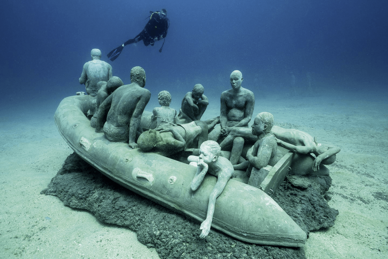 Jason deCaires Taylor, La Balsa de Lampedusa, Lanzarote, España