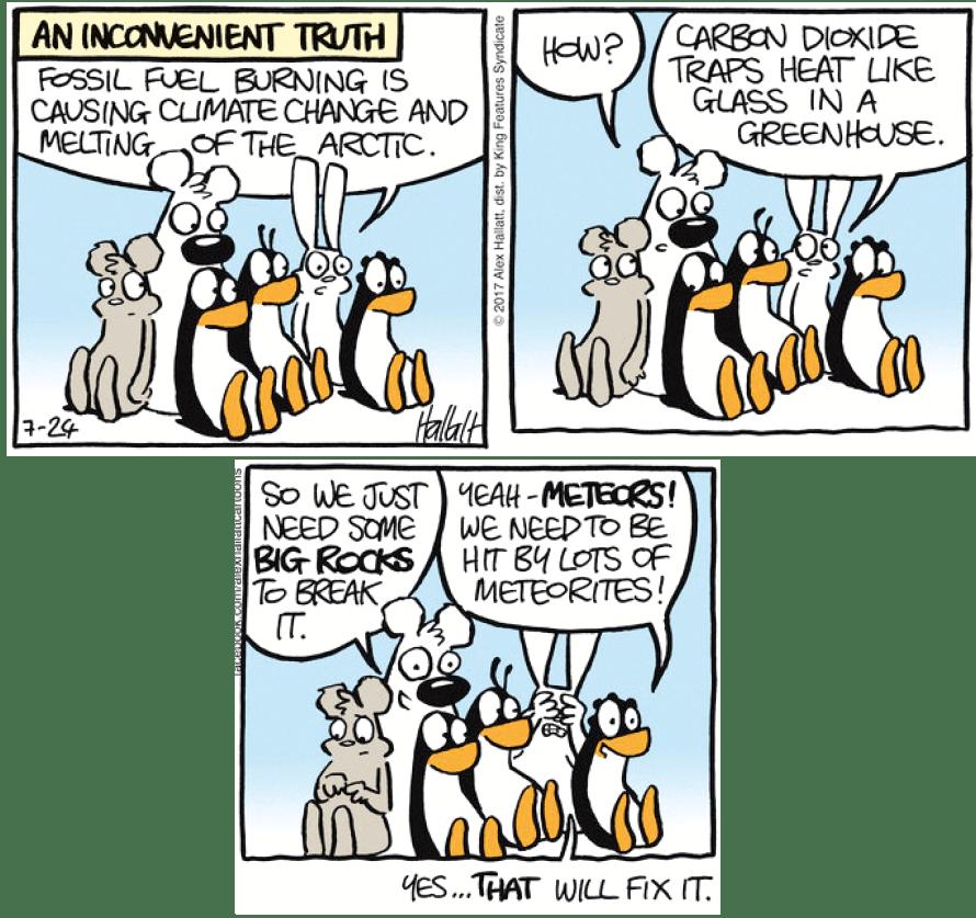 Cartoon Alex Hallatt, Arctic Circle, 2017.
