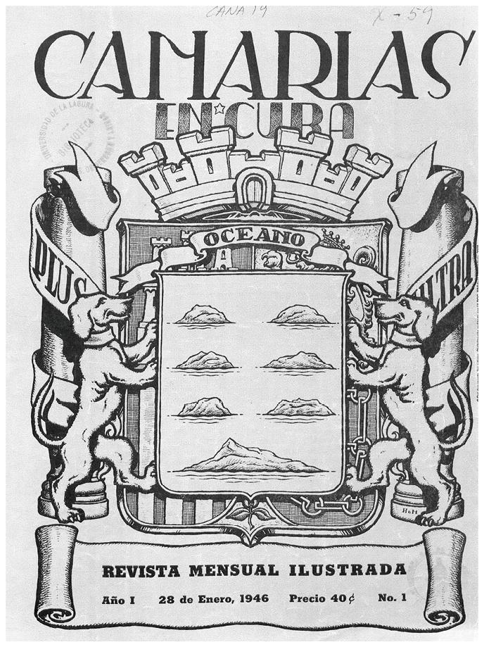Órgano oficial de la Asociación Canaria en Cuba, Biblioteca de la Universidad de la Laguna, 1946