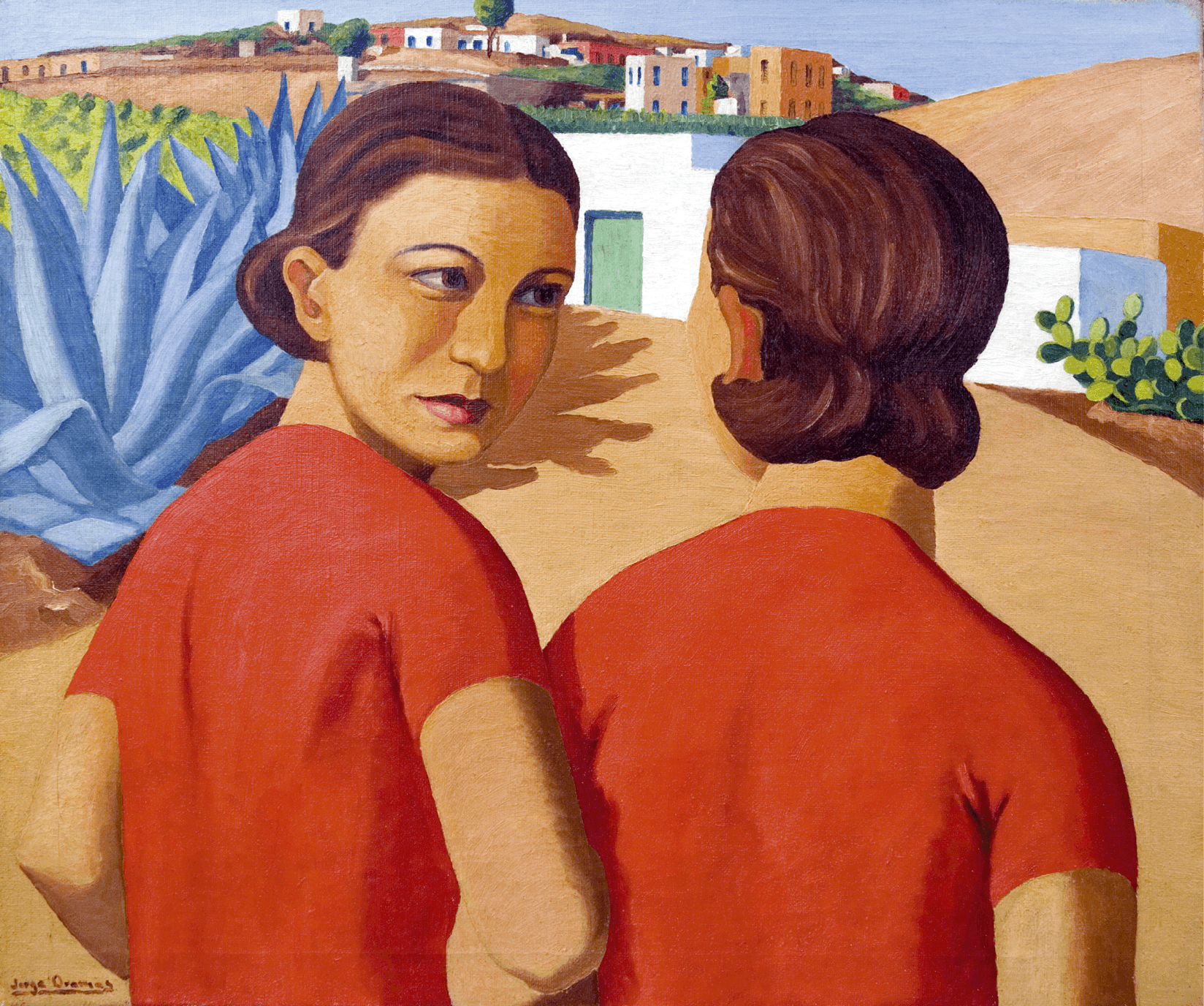 Jorge Oramas, Dos figuras, Las Palmas de Gran Canaria, 1932-1935.