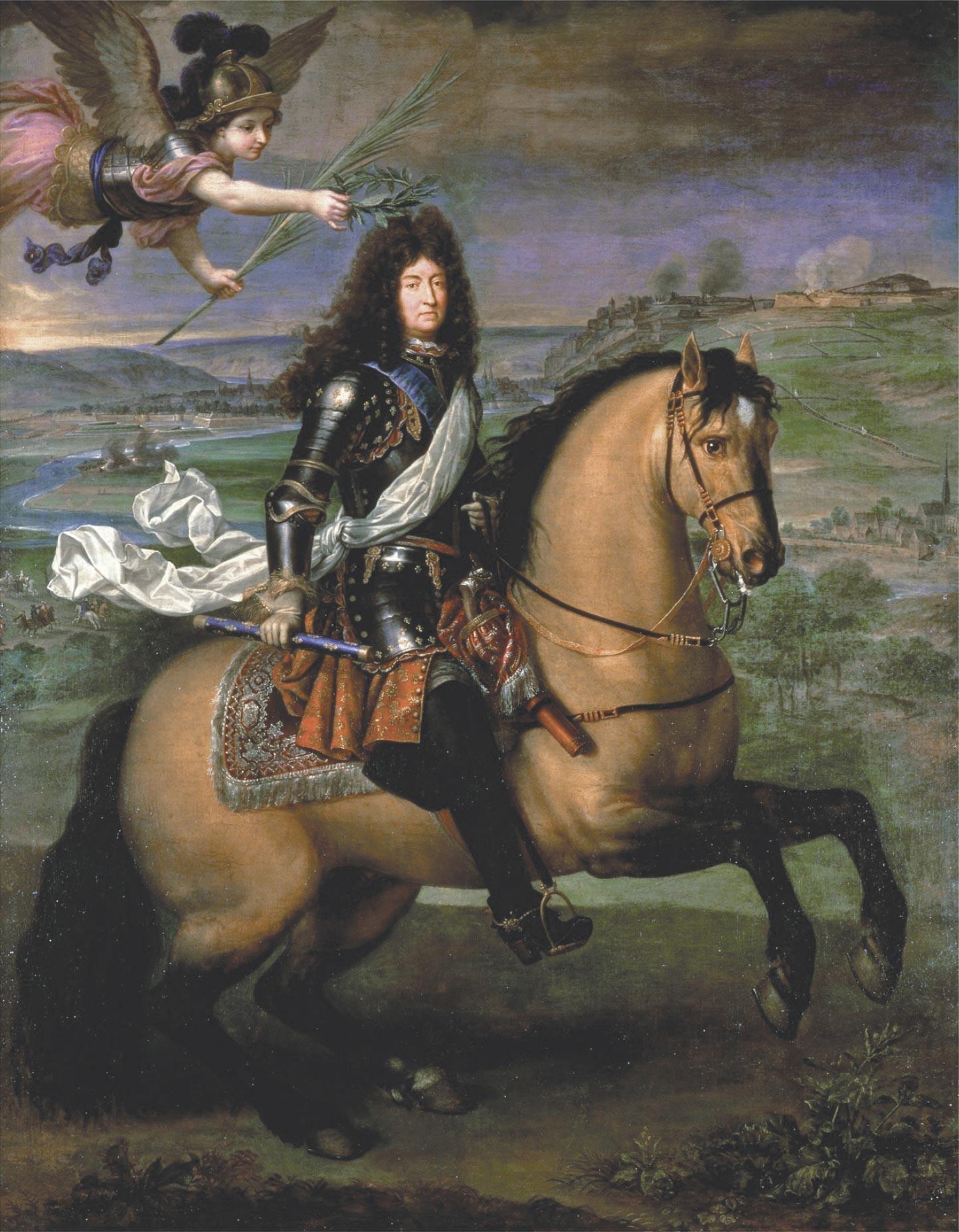 <stamp theme='his-green2'>Doc. 3</stamp> Portrait équestre du roi Louis XIV