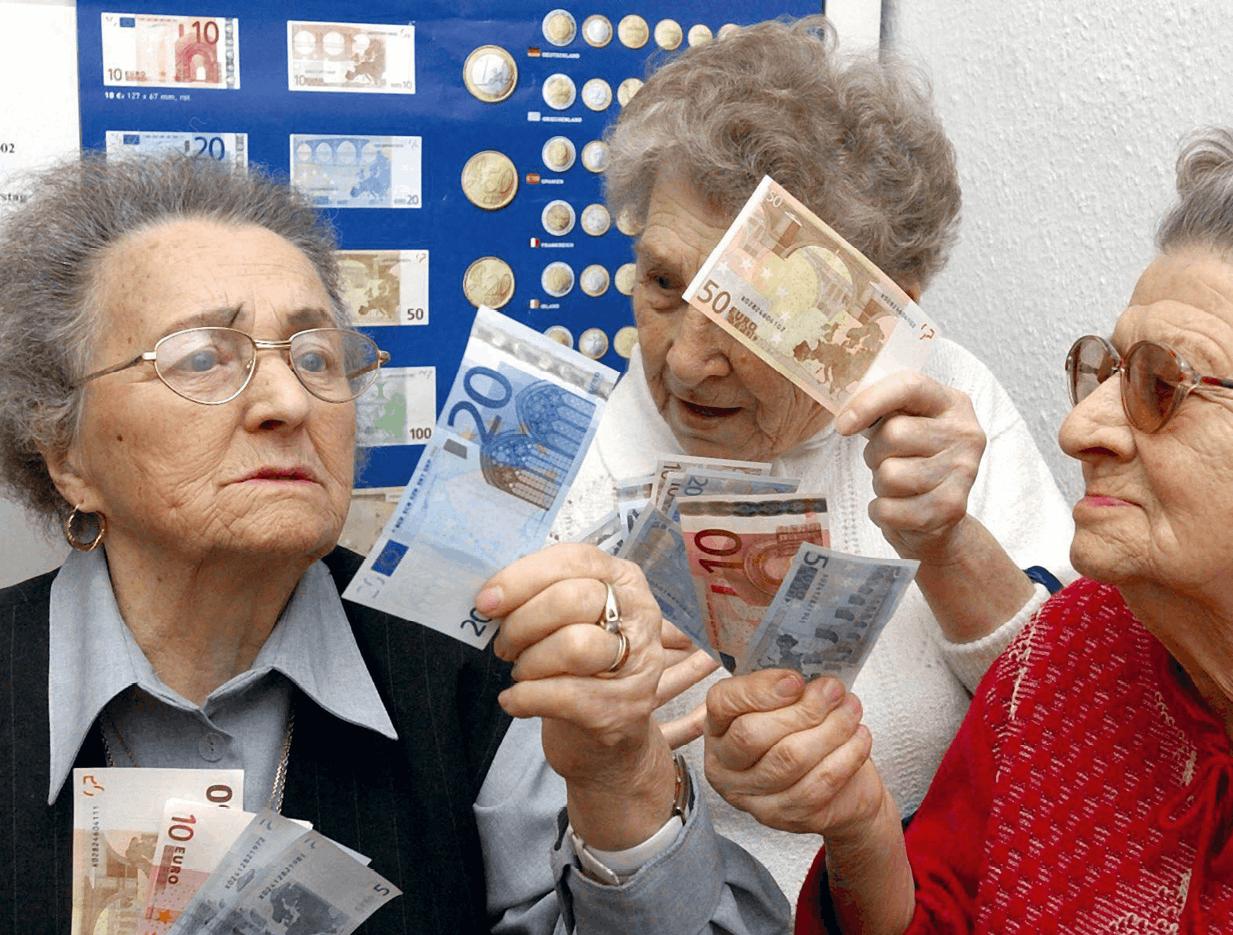 Photographie sur la transition du mark à l'euro