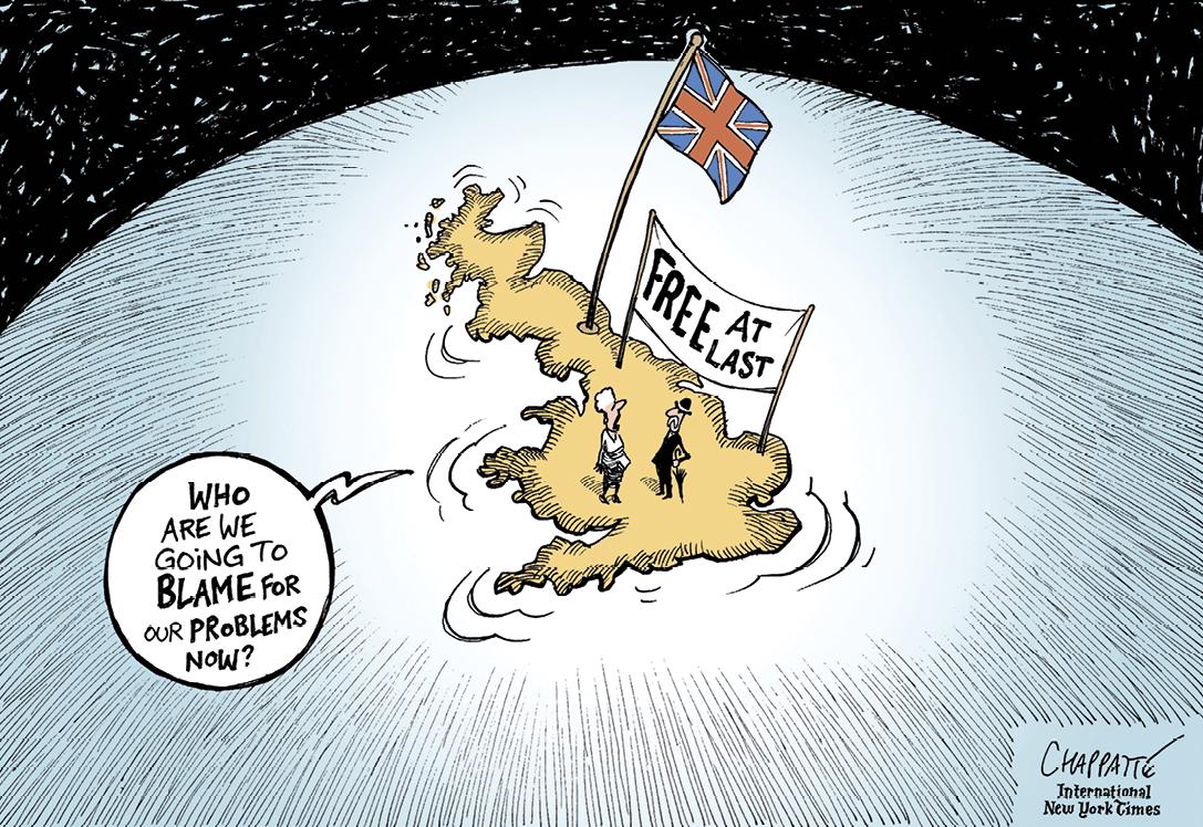 Une caricature du Brexit, de Patrick Chappatte.