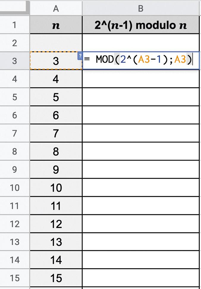 maths expertes - chapitre 5 - Nombres premiers - TP1. Test de primalité de Fermat - méthode 1