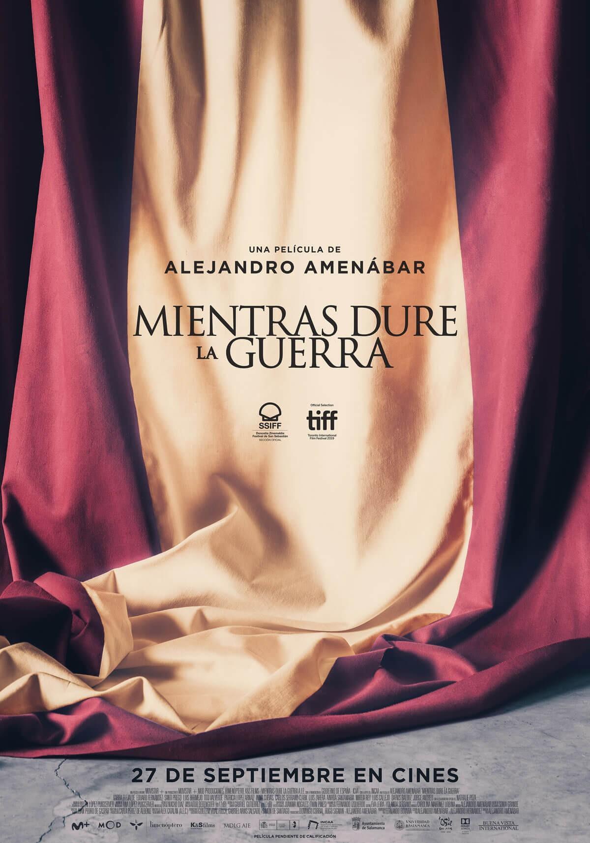 Alejandro Amenábar, Mientras dure la guerra, 2019