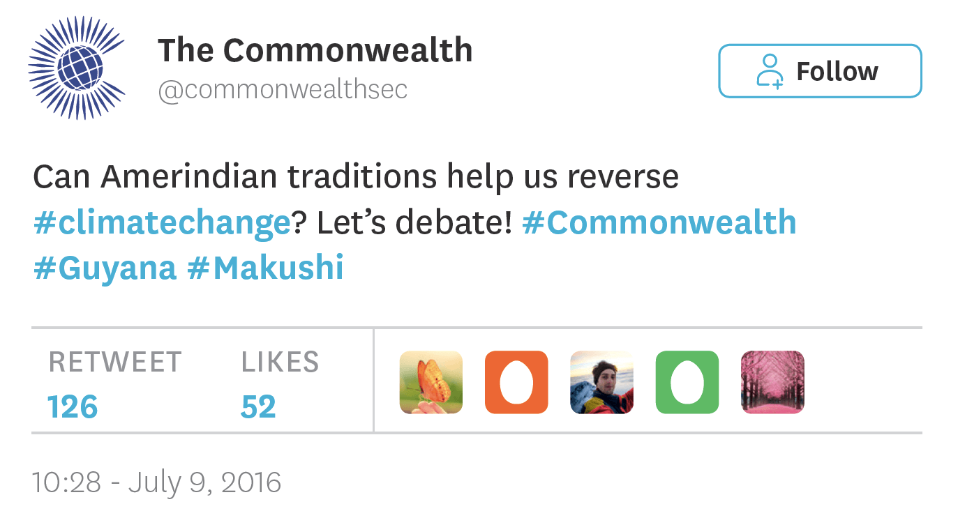 tweet posted by @Commonwealthsec on July 9th 2016
