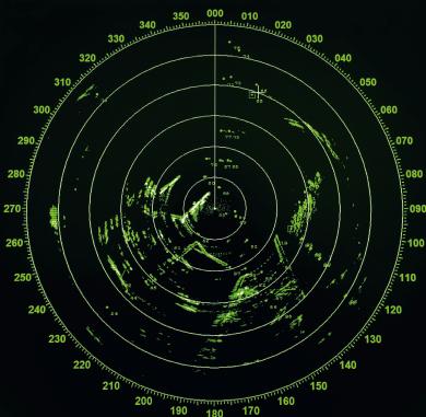 Radar d'un navire
