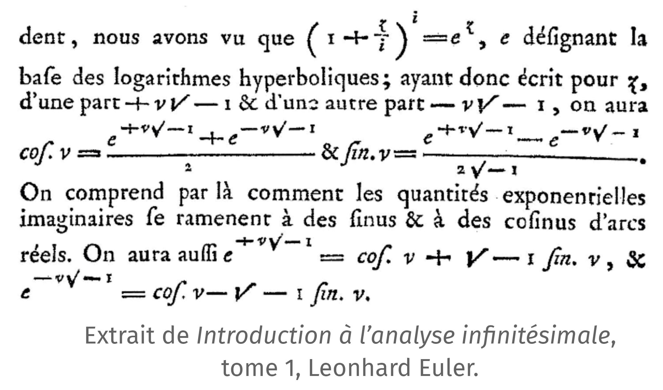 Maths expertes - Histoire des mathématiques - Leonhard Euler - Introduction à l'analyse infinitésimale