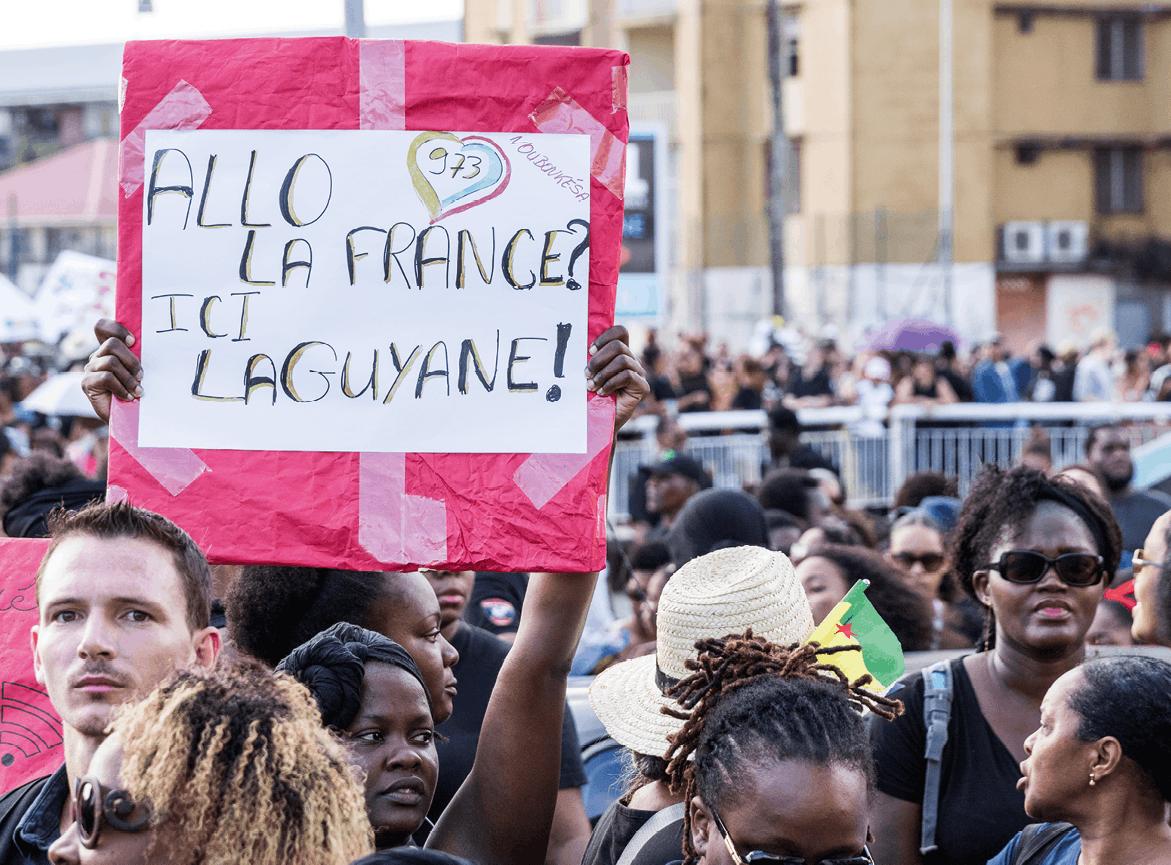 Photographie d'une manifestation en Guyane