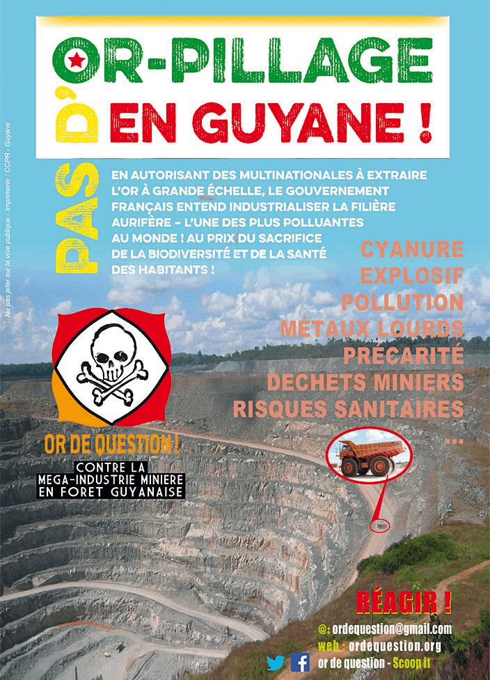 « Pas d'or-pillage en Guyane ! », affiche du collectif militant Or de Question