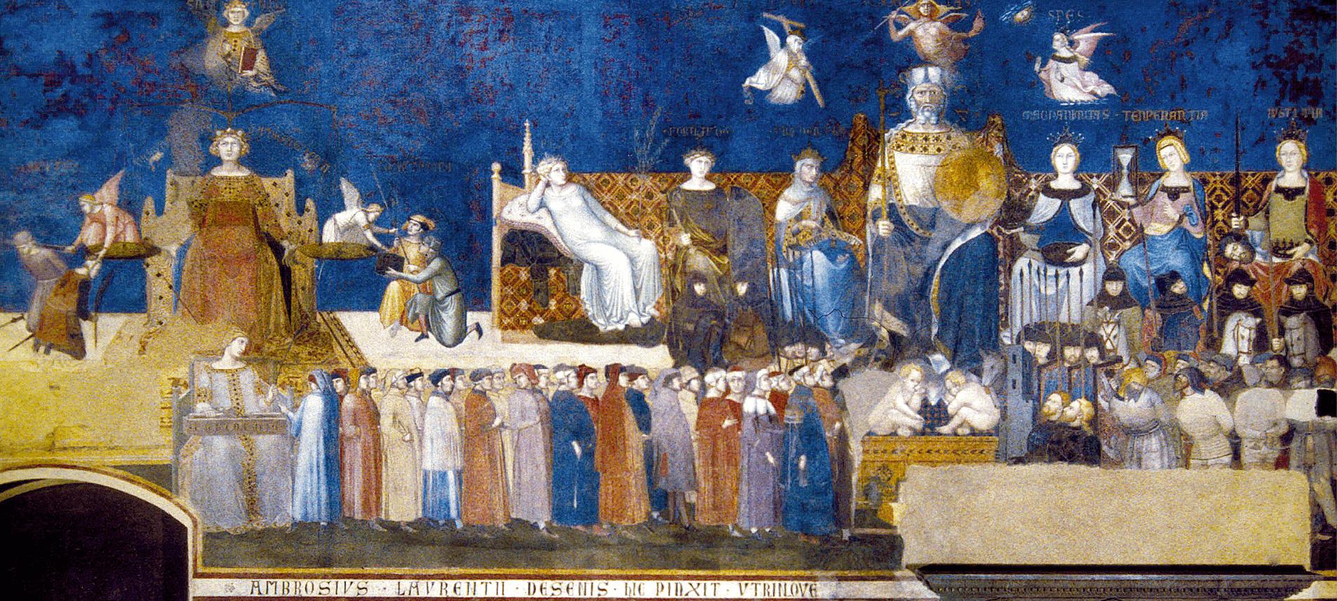 Le bon gouvernement au Moyen Âge : fresque Ambrogio Lorenzetti