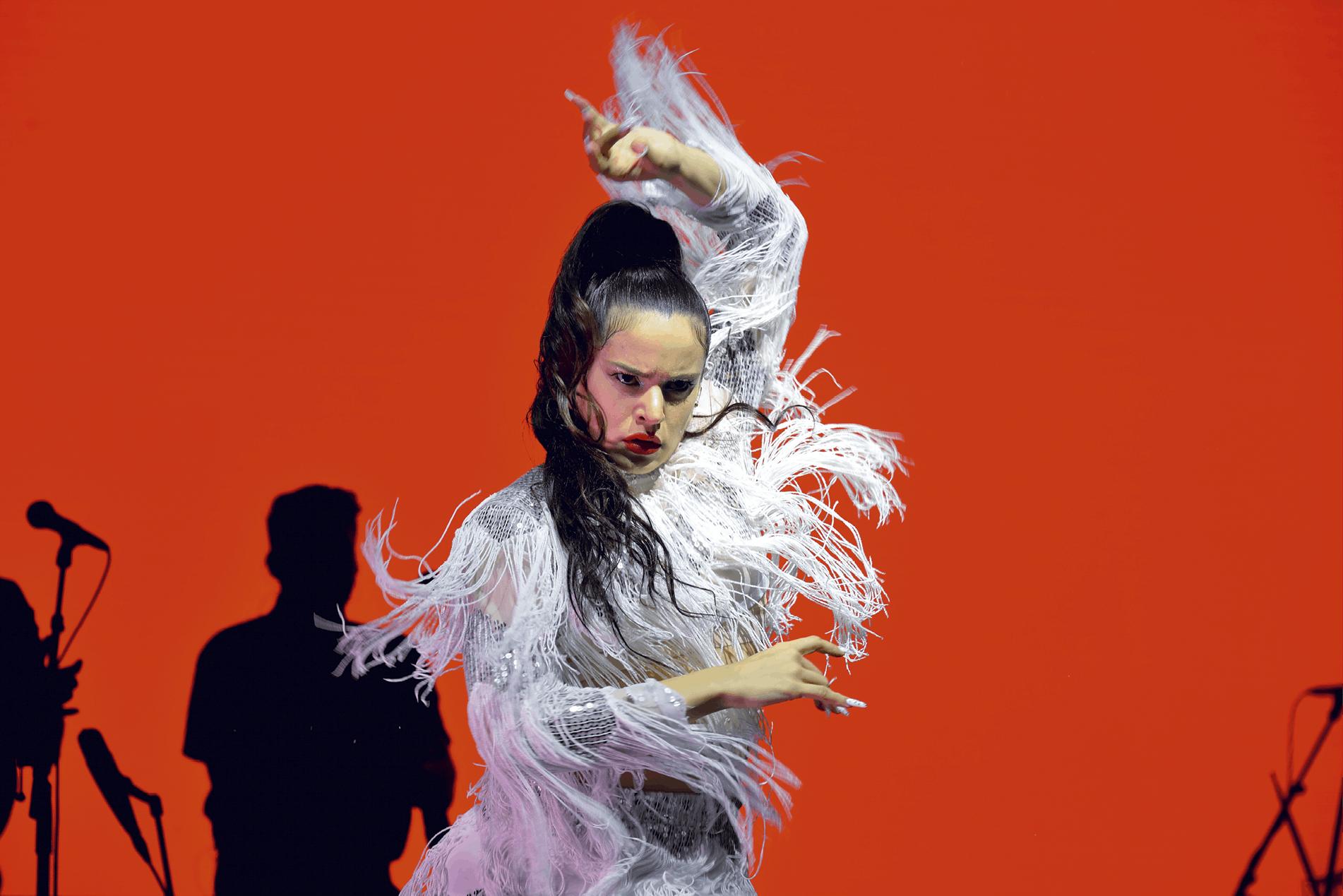 Concierto de Rosalía en el festival Sónar, Barcelona, 2018