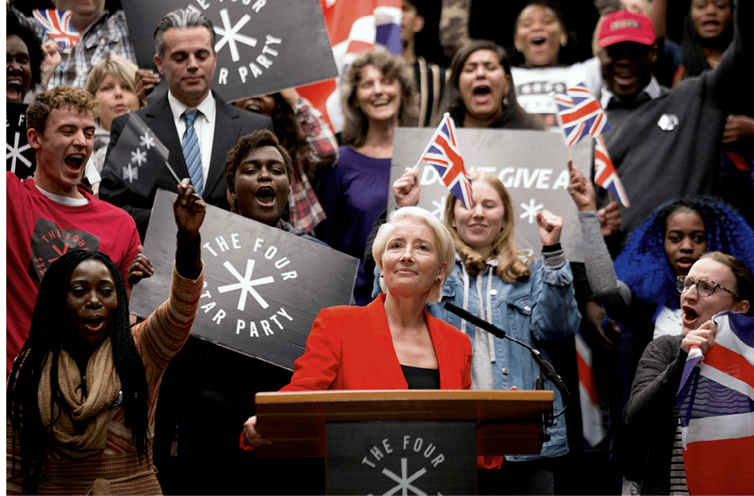 Still from the TV series Years and Years, by Russell T Davies, 2019-present.