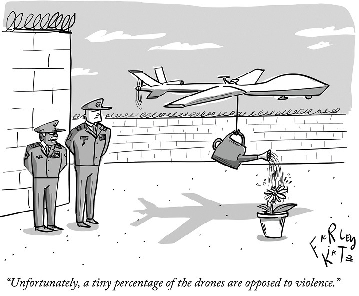 Cartoon on drones