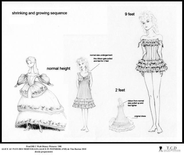 Les différentes tailles d'Alice.