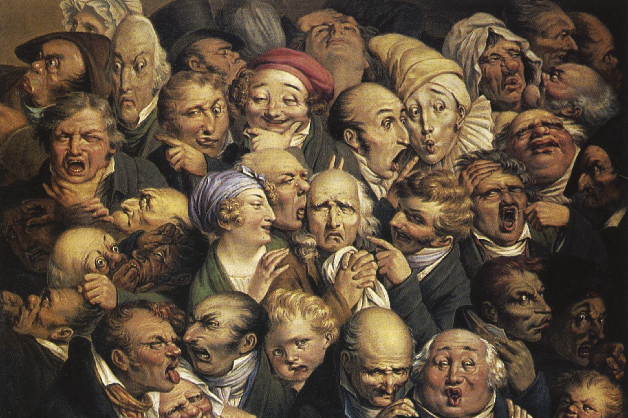 Réunion de trente-cinq têtes d'expression