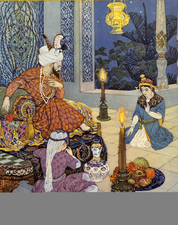 Illustration pour le recueil Les Mille et Une Nuits