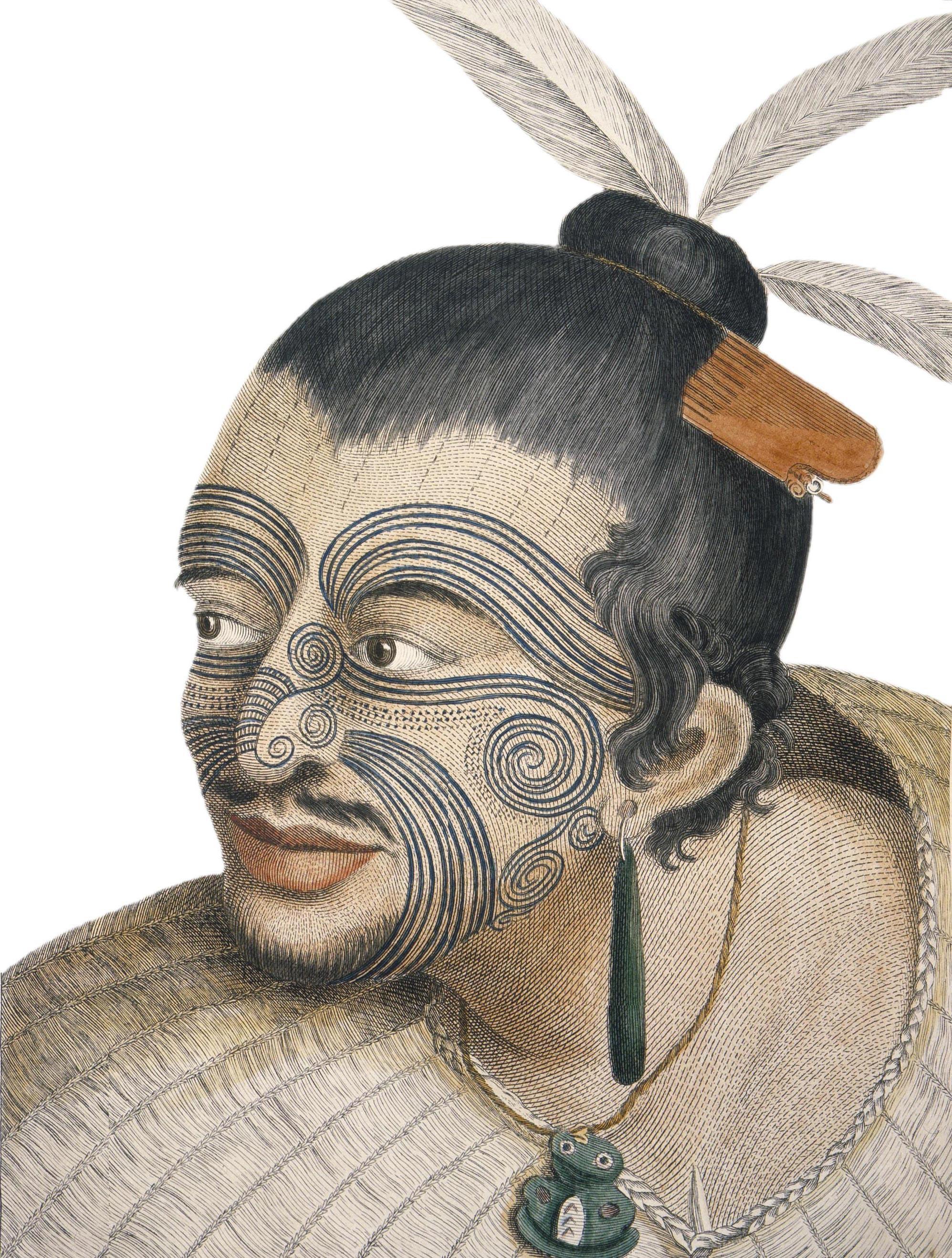 Portrait d'un Maori
