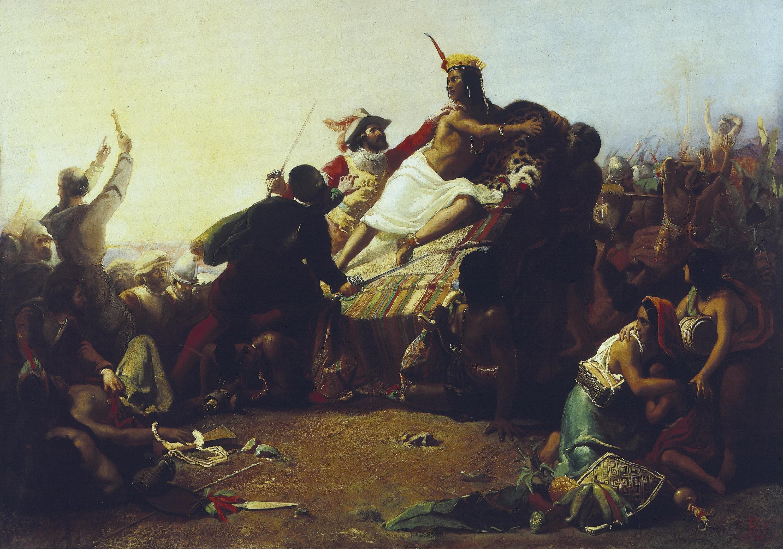 Pizarro s'emparant de l'Inca